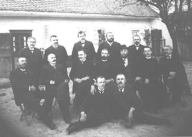 Teachers and officials in Kucura